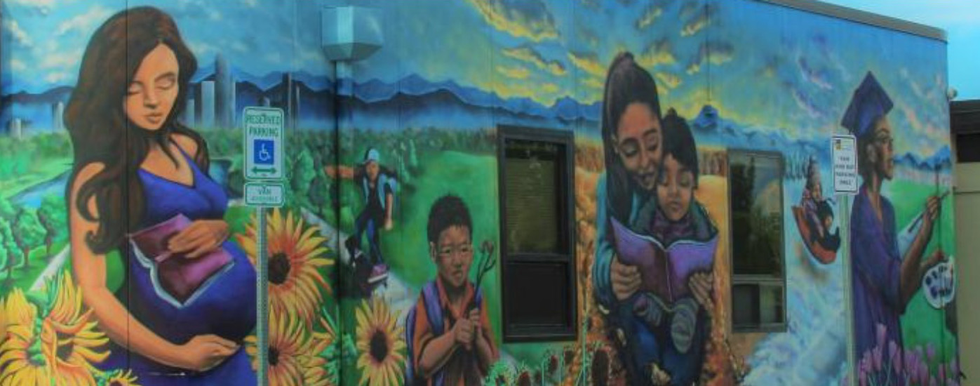Mural in the Valverde neighborhood.